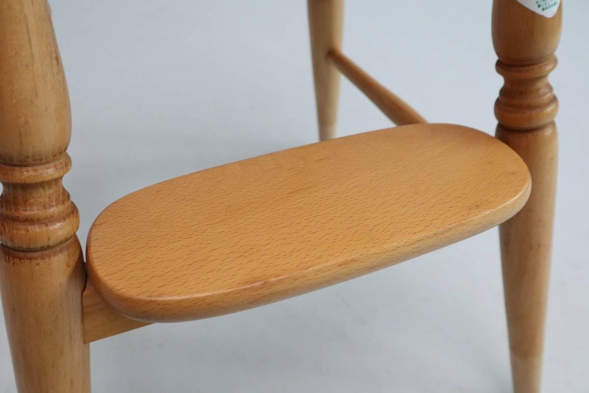 飛騨産業 キツツキ ヴィンテージ ベビーチェア チャイルド キッズ ハイチェア 子供 椅子 ナチュラル / 英国アンティーク 北欧 無印 柏木工_画像5