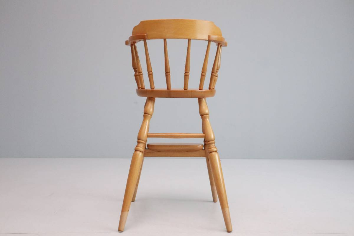 飛騨産業 キツツキ ヴィンテージ ベビーチェア チャイルド キッズ ハイチェア 子供 椅子 ナチュラル / 英国アンティーク 北欧 無印 柏木工_画像7