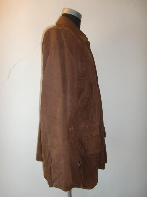 送料無料 90'S USA製 VINTAGE COACH コーチ スウェード レザー コート ジャケット 羊革 シープ ヌバック ステンカラー U.S.A アメリカ製_画像6