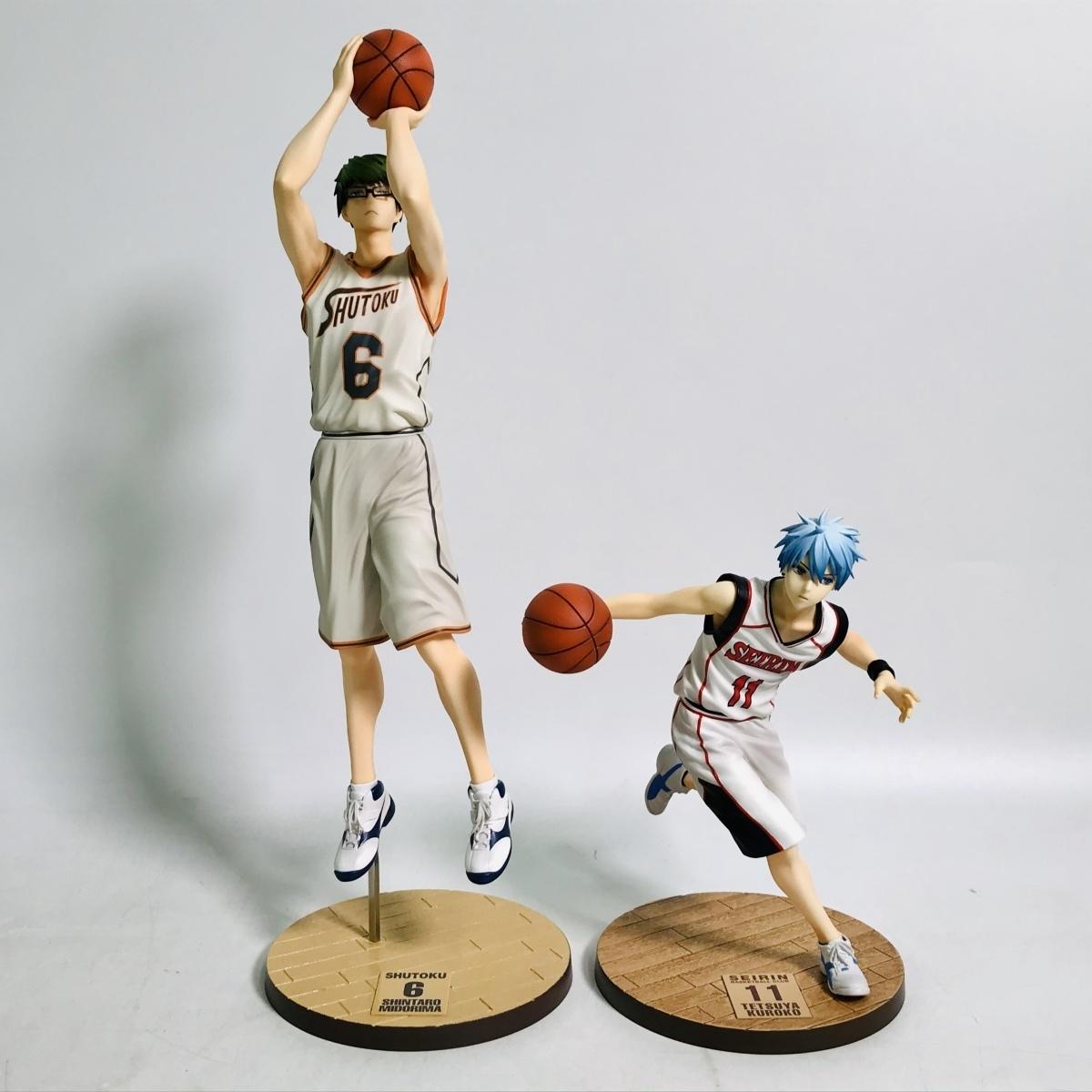 中古品 メガハウス 黒子のバスケ フィギュアシリーズ 黒子テツヤ 緑間真太郎 セット_画像1