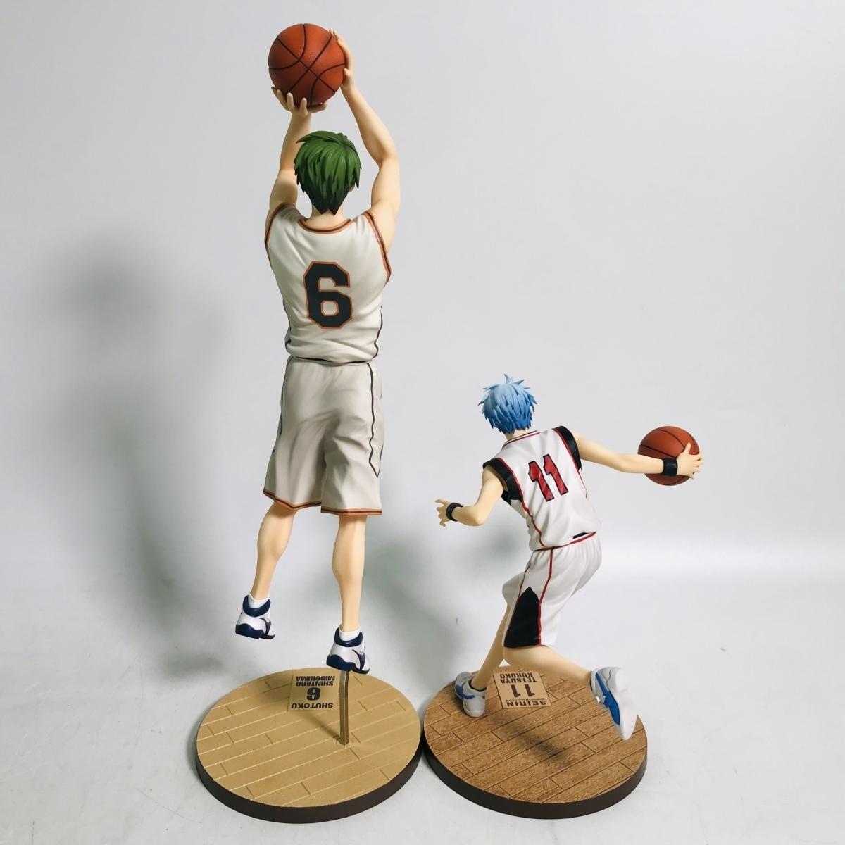 中古品 メガハウス 黒子のバスケ フィギュアシリーズ 黒子テツヤ 緑間真太郎 セット_画像4