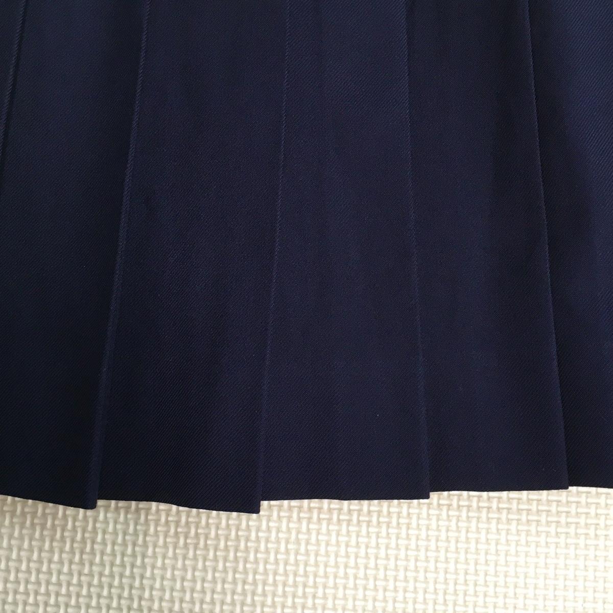 A610 (中古) スカート ブラウス 2点セット /LL/W75/大きいサイズ/スカート/ブラウス/紺/冬服/長袖/制服/中学校/高校/女子学生/学生服/学生_画像6