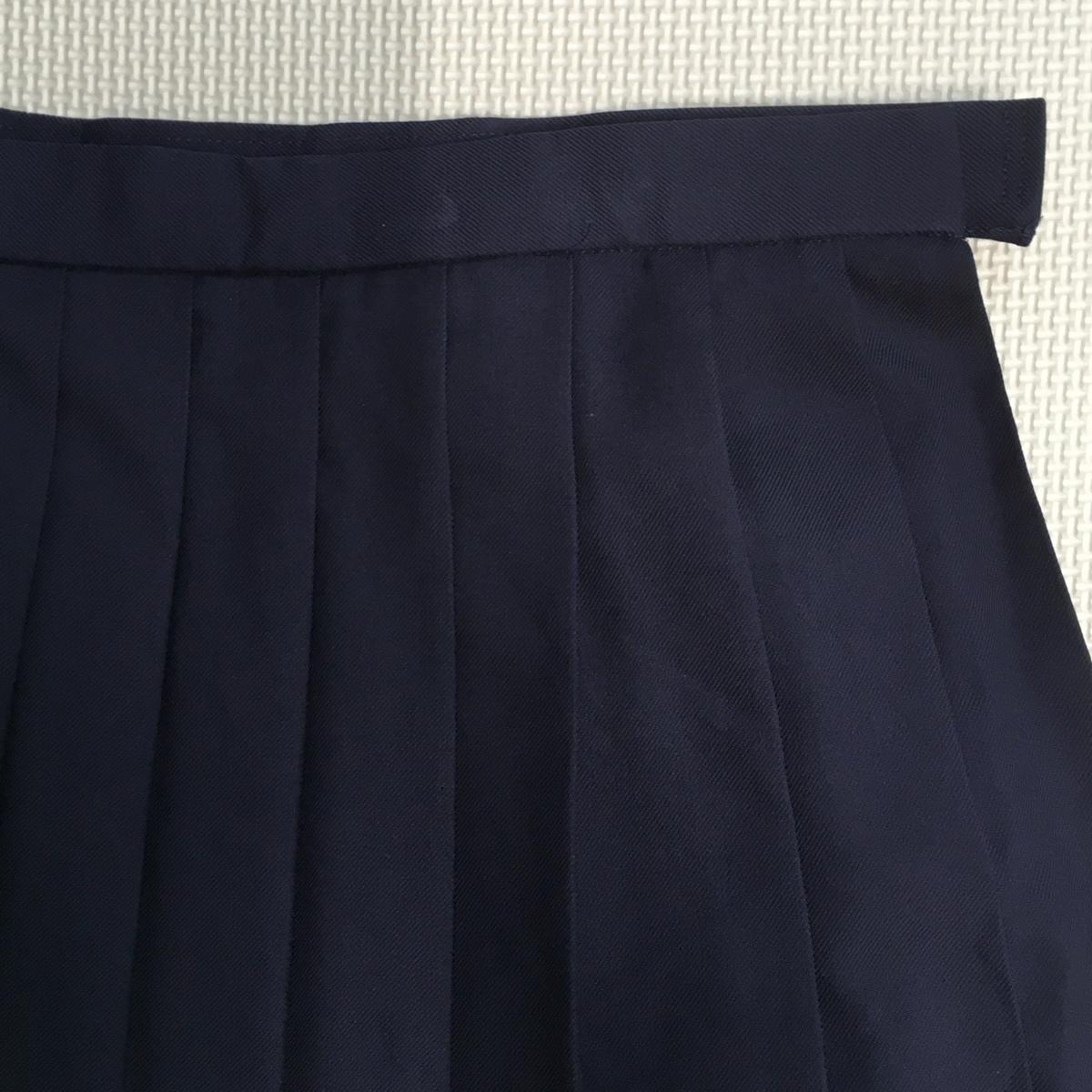 A610 (中古) スカート ブラウス 2点セット /LL/W75/大きいサイズ/スカート/ブラウス/紺/冬服/長袖/制服/中学校/高校/女子学生/学生服/学生_画像5