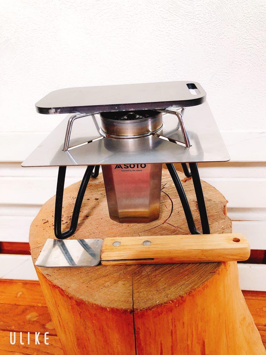 鉄板 スモール メスティン トランギア 6ミリ ミリキャンプ 黒皮鉄板