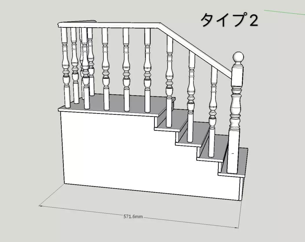 BJDドール用階段 SD/70cmサイズ通用 色のオーダー可能 球体関節人形 doll 家具_画像5
