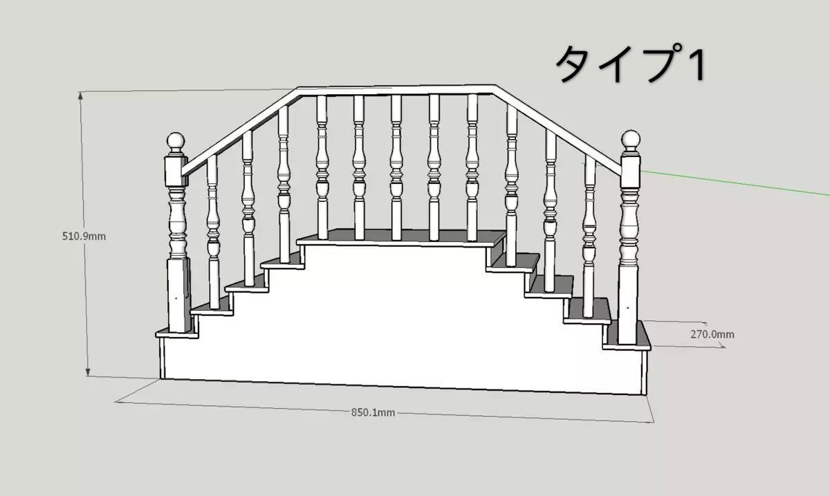 BJDドール用階段 SD/70cmサイズ通用 色のオーダー可能 球体関節人形 doll 家具_画像4