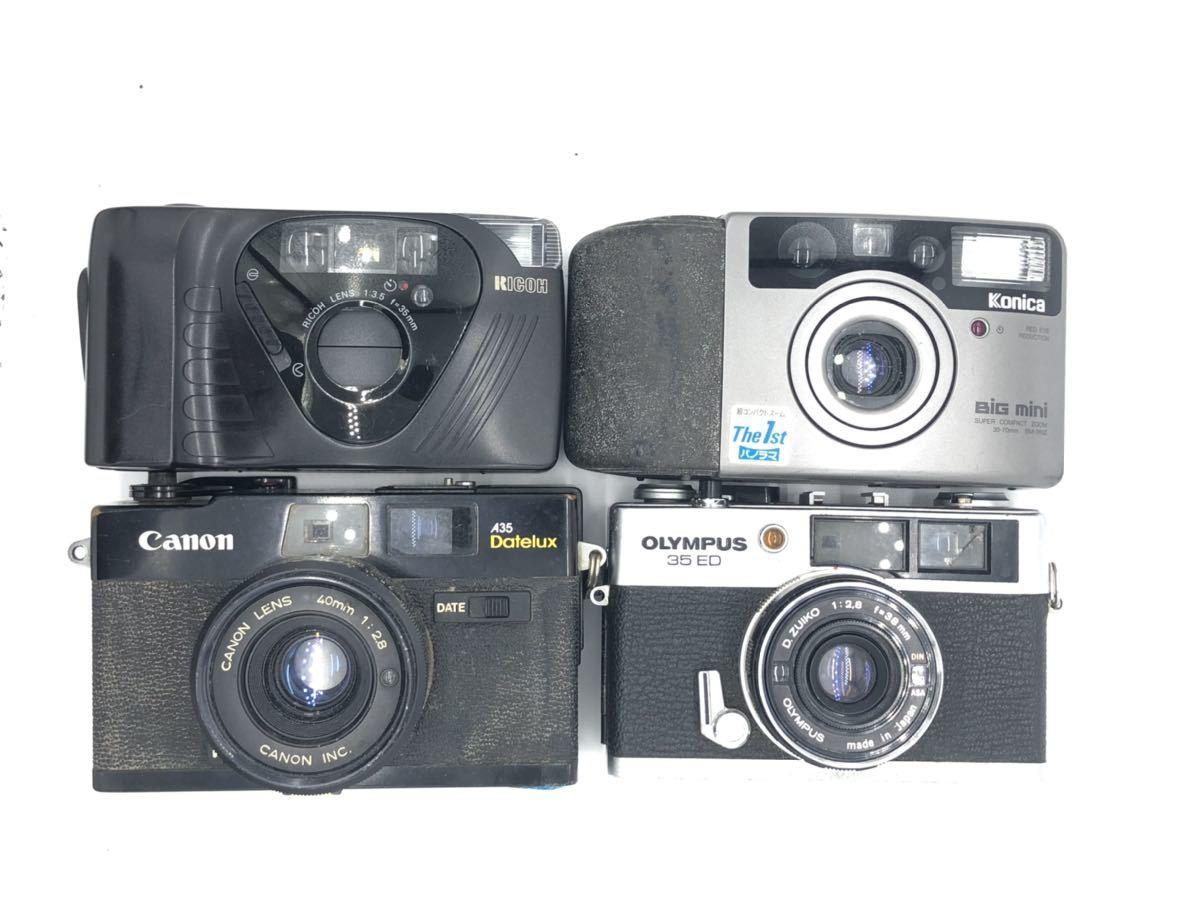ジャンク(3) リコー RICOH FF-9D コニカ KONICA BIG MINI キャノン Canon A35 Datelux オリンパス OLYMPUS 35ED_画像1