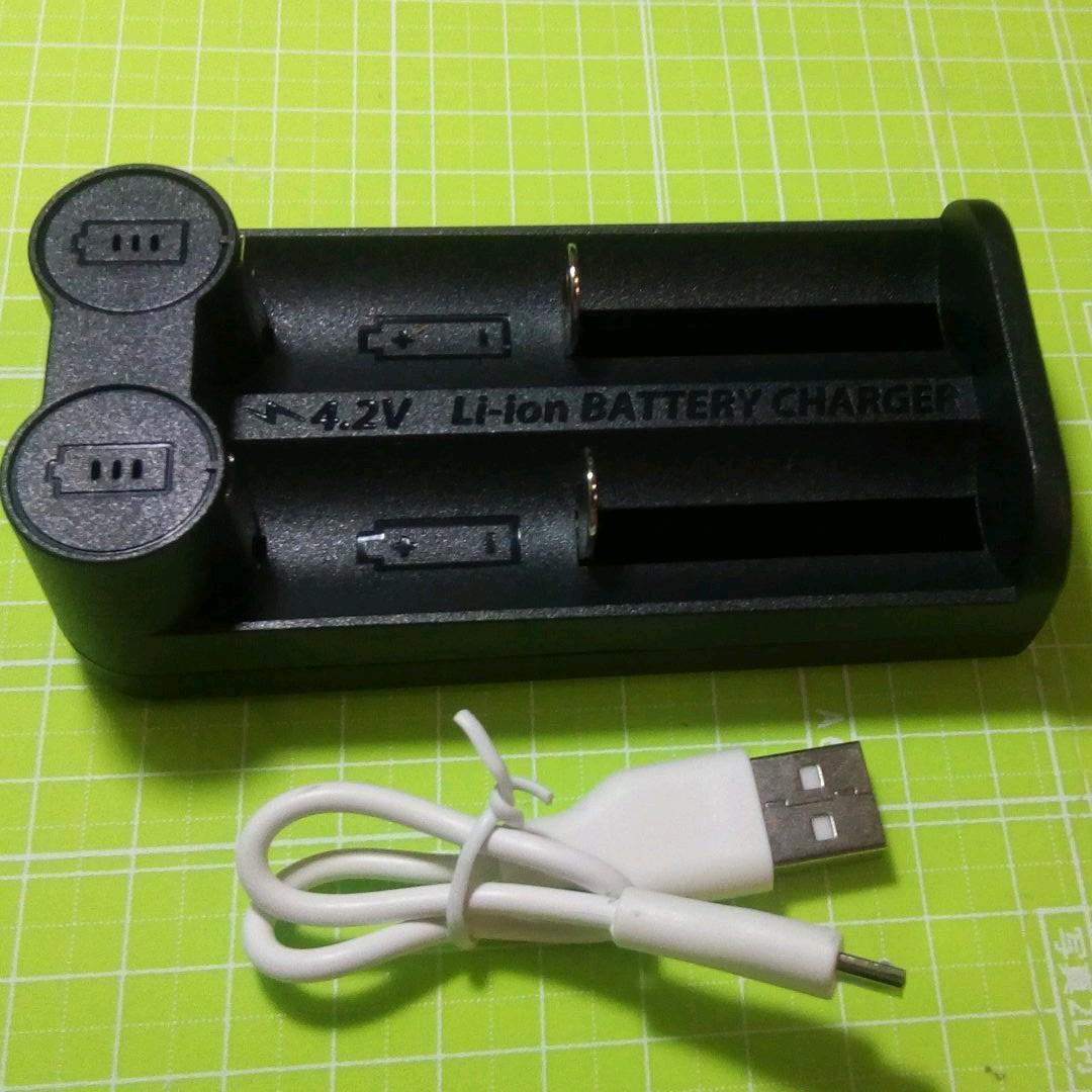 2スロットタイプ USB接続式 リチウムイオン電池専用充電器 マルチ保護システム 低電圧活性化機能 _画像1