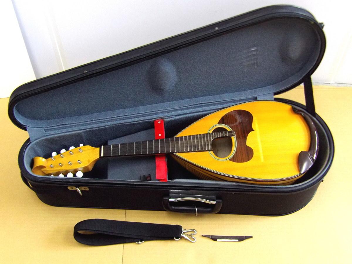 0210-69店55063 SUZUKI マンドリン スズキ ハードケース付き 弦楽器