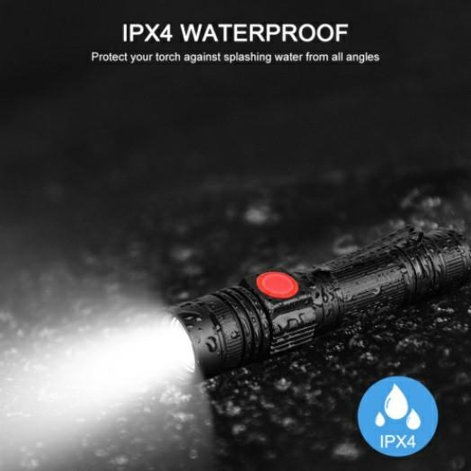 USBケーブル付き☆懐中電灯 led USB充電式 強力XML-T6 防水