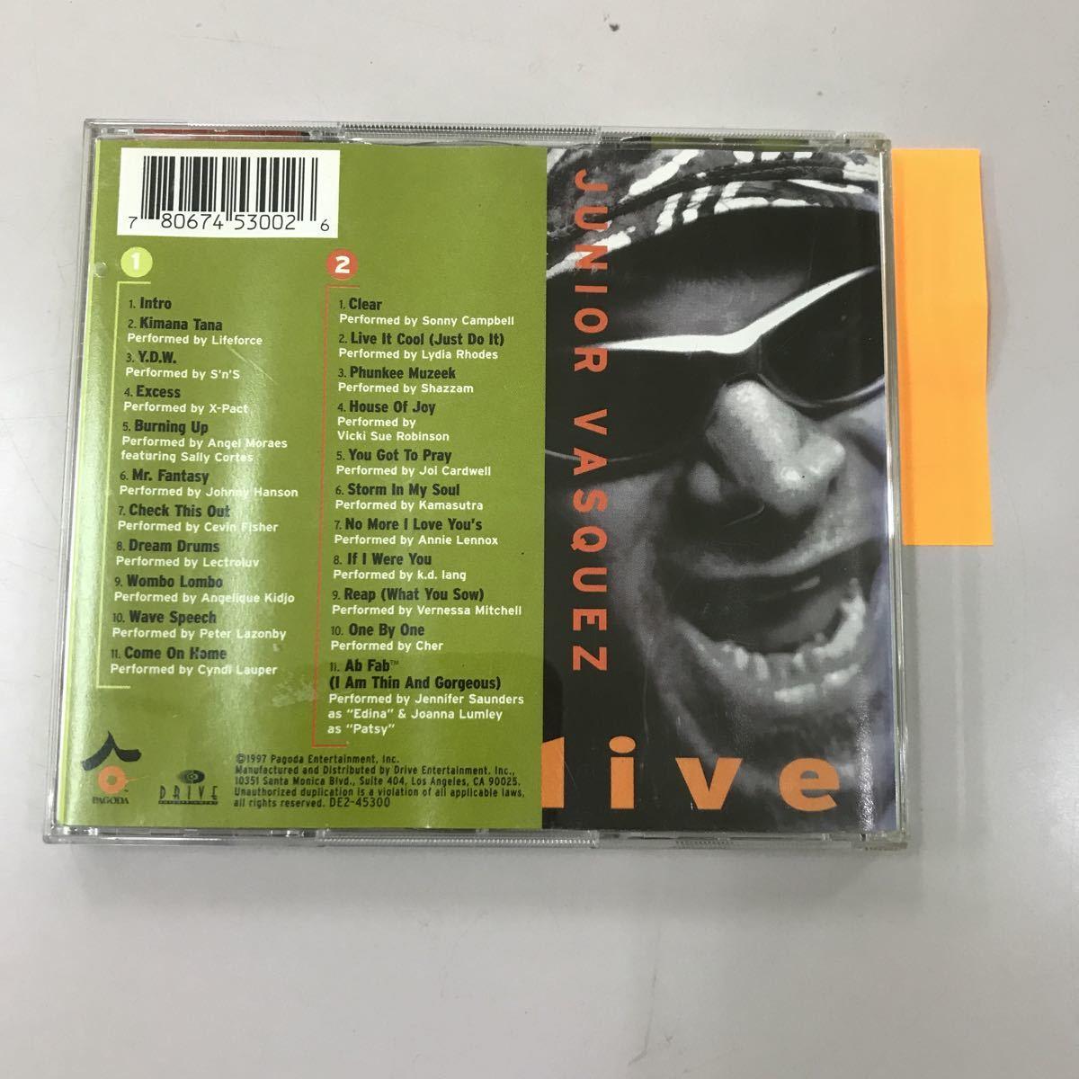 CD 中古☆【洋楽】JUNIOR VASQUEZ live