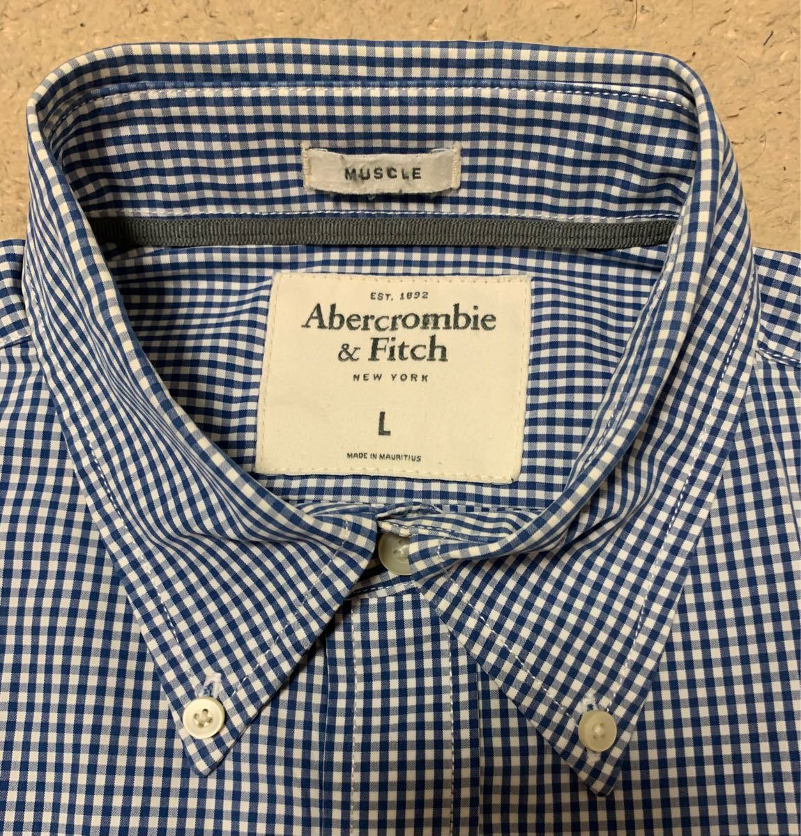 【Abercrombie&Fitch】アバクロンビー&フィッチ ストライプシャツ