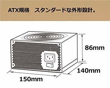 400W 玄人志向 STANDARDシリーズ 80 PLUS 400W ATX電源 KRPW-L5-400W/80+_画像6