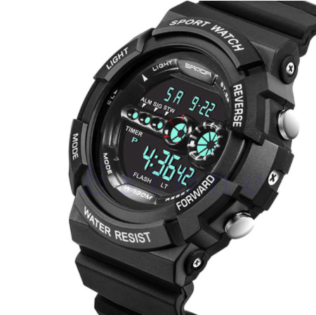 A1295 メンズ腕時計 ステンレス鋼 led デジタル 日付 アラーム 防水 スポーツ アーミー 電子時計 ファッション アウトドア_画像5