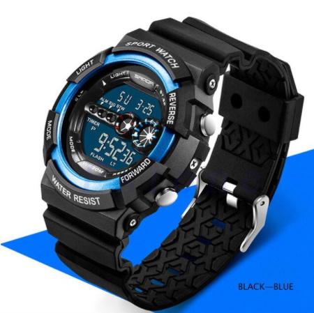 A1295 メンズ腕時計 ステンレス鋼 led デジタル 日付 アラーム 防水 スポーツ アーミー 電子時計 ファッション アウトドア_画像6