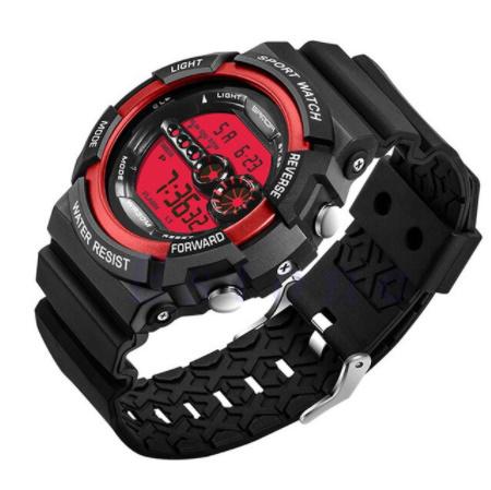 A1295 メンズ腕時計 ステンレス鋼 led デジタル 日付 アラーム 防水 スポーツ アーミー 電子時計 ファッション アウトドア_画像8