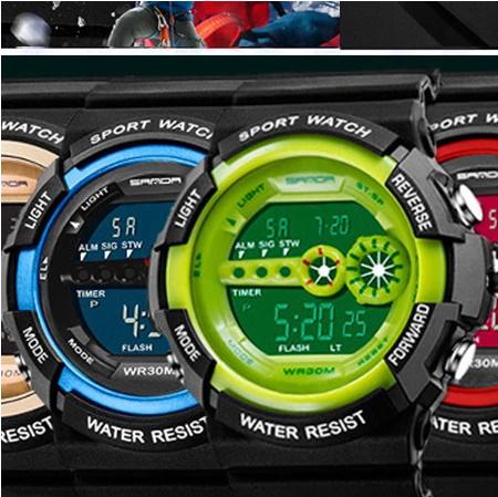 A1295 メンズ腕時計 ステンレス鋼 led デジタル 日付 アラーム 防水 スポーツ アーミー 電子時計 ファッション アウトドア_画像2