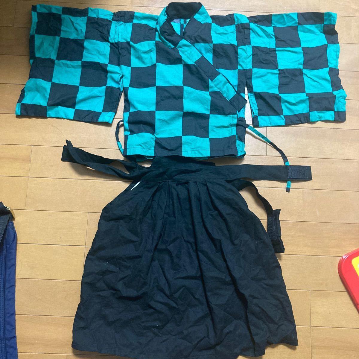 鬼滅の刃 袴の衣装(手作り)90cm 男の子 コスプレ