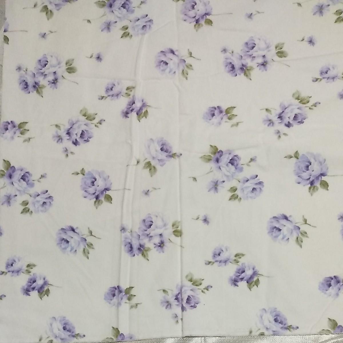 ハギレ 生地 花柄 紫色