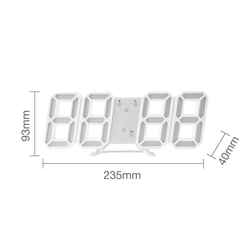 送料無料!!インテリア 壁掛け時計 デジタル ウォールクロック LED Digital Numbers Wall Clock インテリア オフィス クラシック_画像6