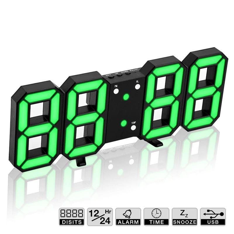 送料無料!!インテリア 壁掛け時計 デジタル ウォールクロック LED Digital Numbers Wall Clock インテリア オフィス クラシック_画像5