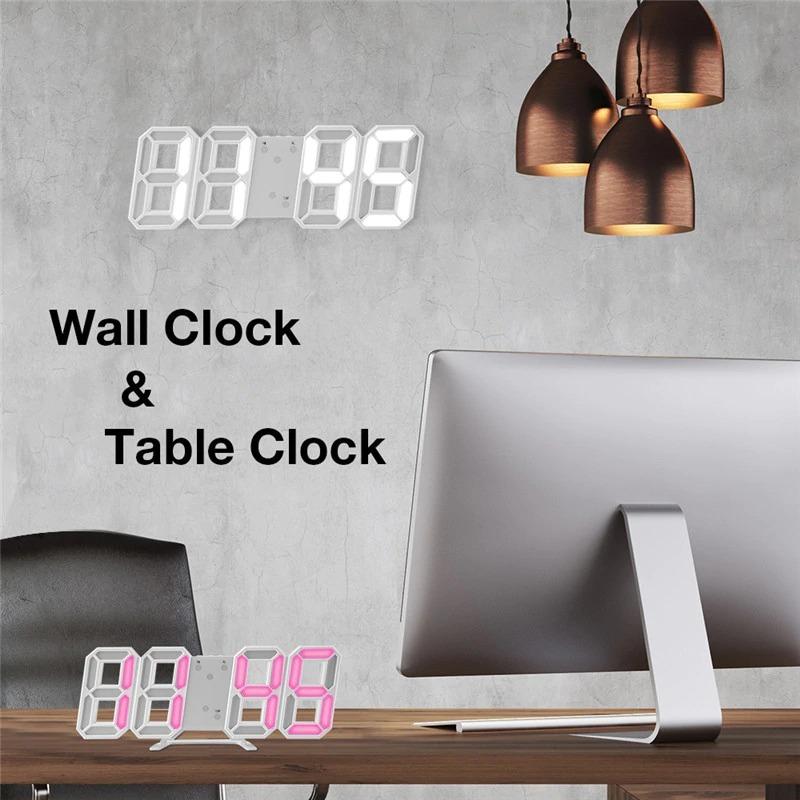 送料無料!!インテリア 壁掛け時計 デジタル ウォールクロック LED Digital Numbers Wall Clock インテリア オフィス クラシック_画像2