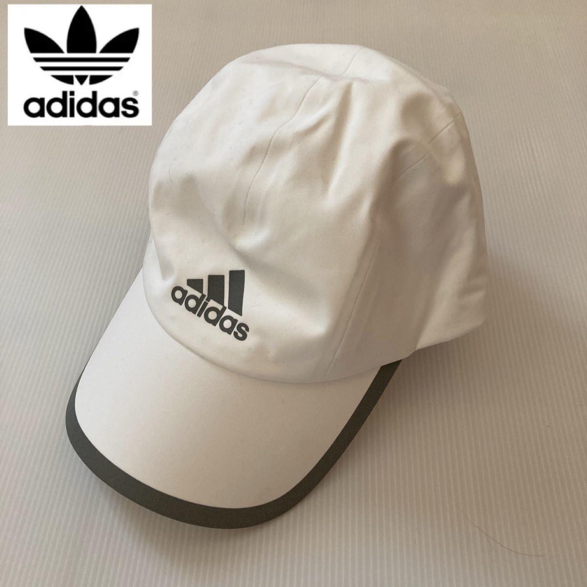 adidas ランニングキャップ ユニセックス 男女兼用フリーサイズ ホワイト