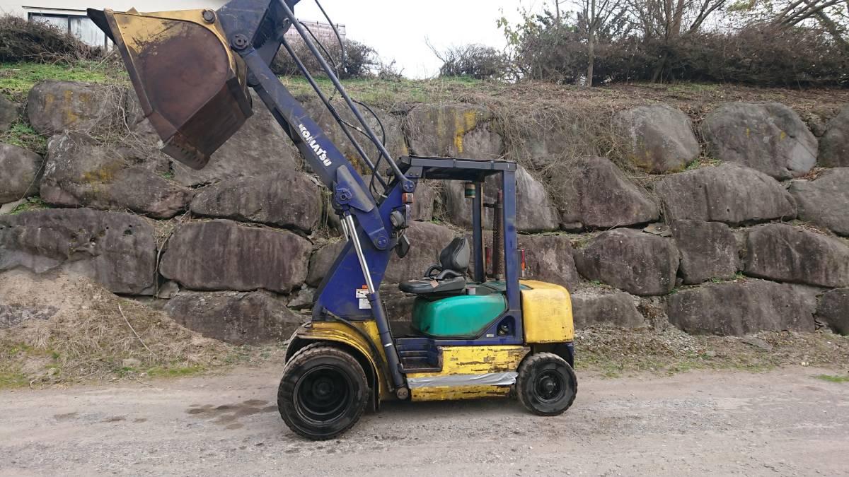「小松 コマツ フォークリフト タイヤショベル ホイールローダ 2001年製 SD10T-5 群馬発 引取限定 軽油 ディーゼル」の画像3