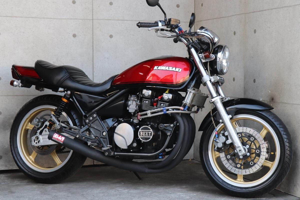 横浜~ Kawasaki ゼファー400 C6 旧車 ブラック火の玉 カスタム 車検付き 綺麗 好調