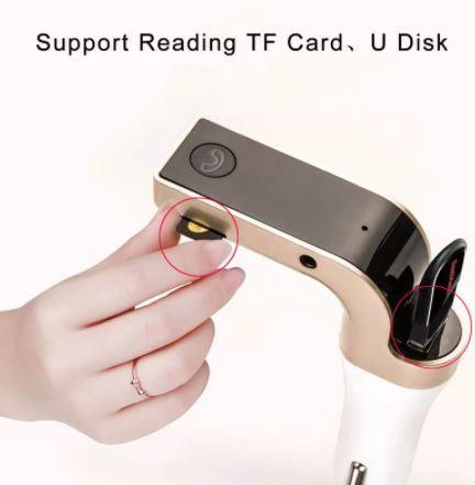 FMトランスミッター Bluetooth 車で音楽、YouTubeを 201128-02_画像2