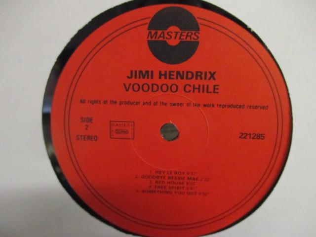 Jimi Hendrix : Voodoo Chile LP // She's A Fox / Something You Got / Free Spirit / 落札5点で送料無料_画像3
