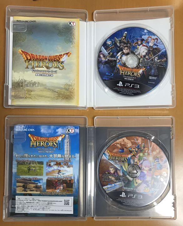 2本セット送料無料 PS3 ドラゴンクエストヒーローズ2 &1 Ⅱ 双子の王と予言の終わり 闇竜と世界樹の城 ドラクエ DQH DRAGON QUEST 即決
