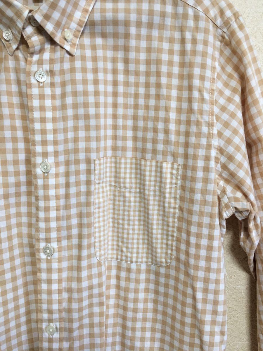 ビームス  長袖シャツ ボタンダウンシャツ チェック柄