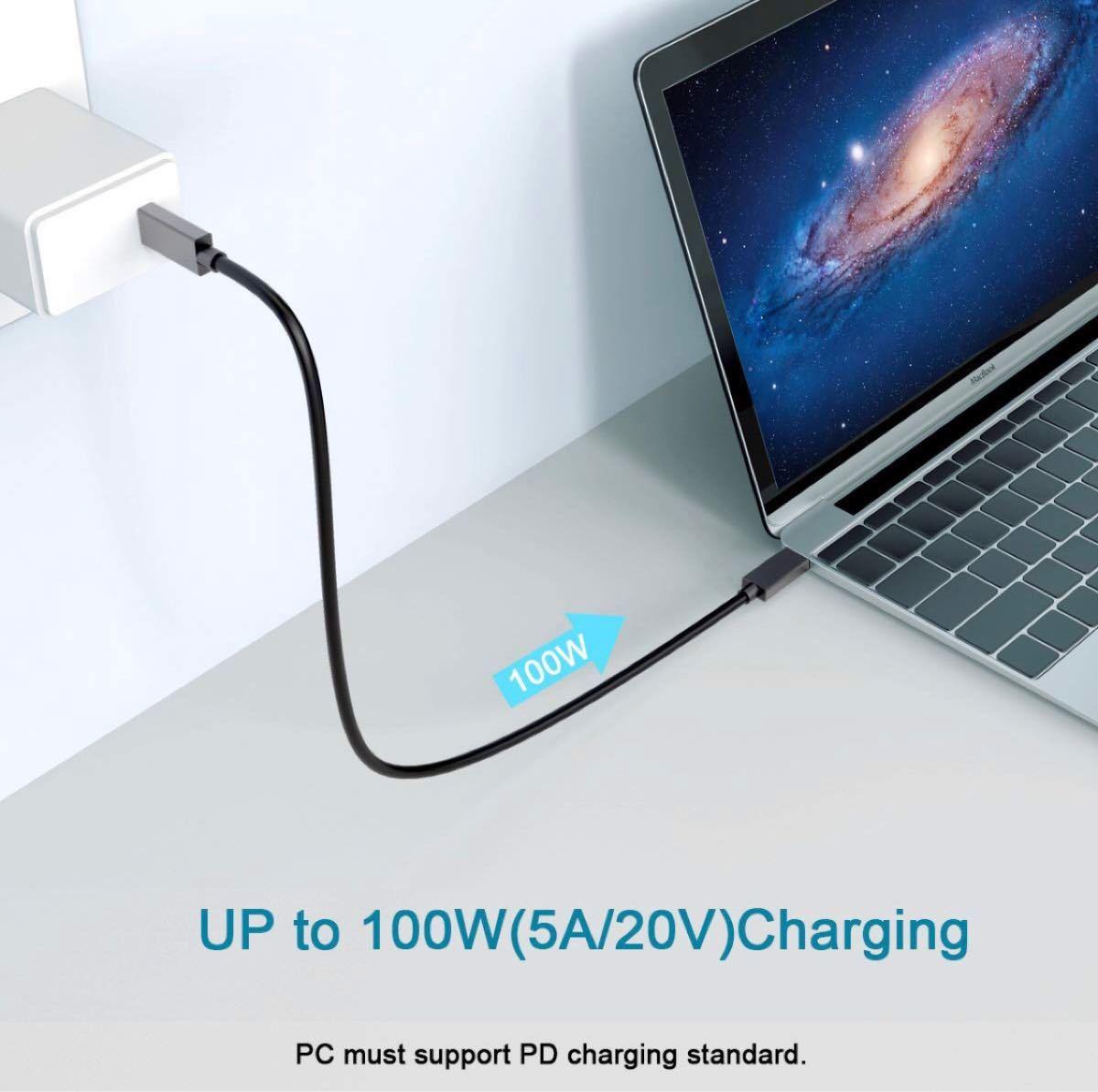 Type C ケーブル USB 3.1 対応PD 最大100W/5A 4K対応