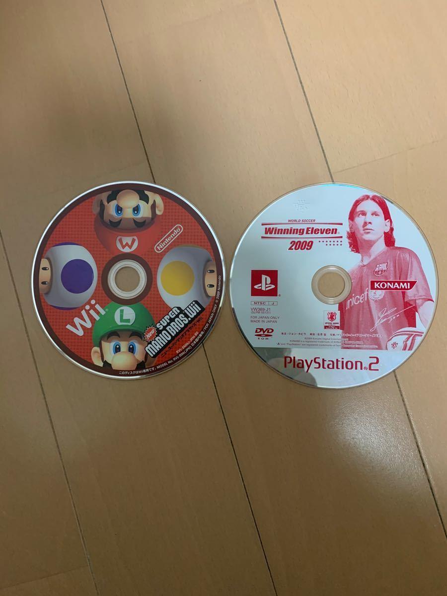 Wii スーパーマリオブラザーズ PS2ウイニングイレブン2009