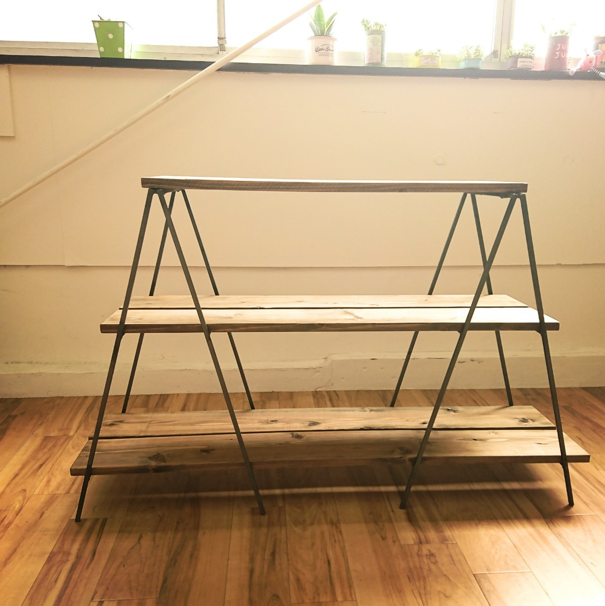【鉄脚のみ》ストッパー付き 折り畳み  キッチンテーブル  作業台 フリマ出店