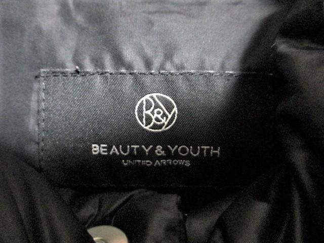☆UNITED ARROWS ユナイテッドアローズ BEAUTY&YOUTH ビューティ&ユース ファーフード付き ダウン ジャケット/メンズ/M
