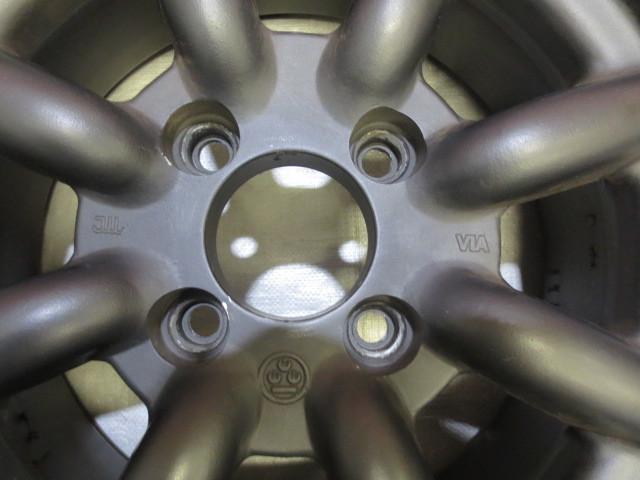 ワタナベ エイトスポーク 14インチ 14×6J +35 100×4H ハブ65mm ブラック 中古 2本_画像6
