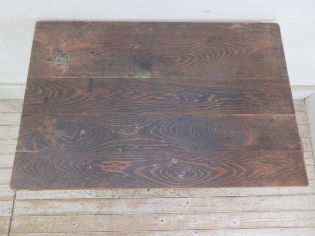古い木味の2杯引出し平机K242   アンティークデスク作業台カウンターテーブル店舗什器カフェ什器無垢材古家具_画像4