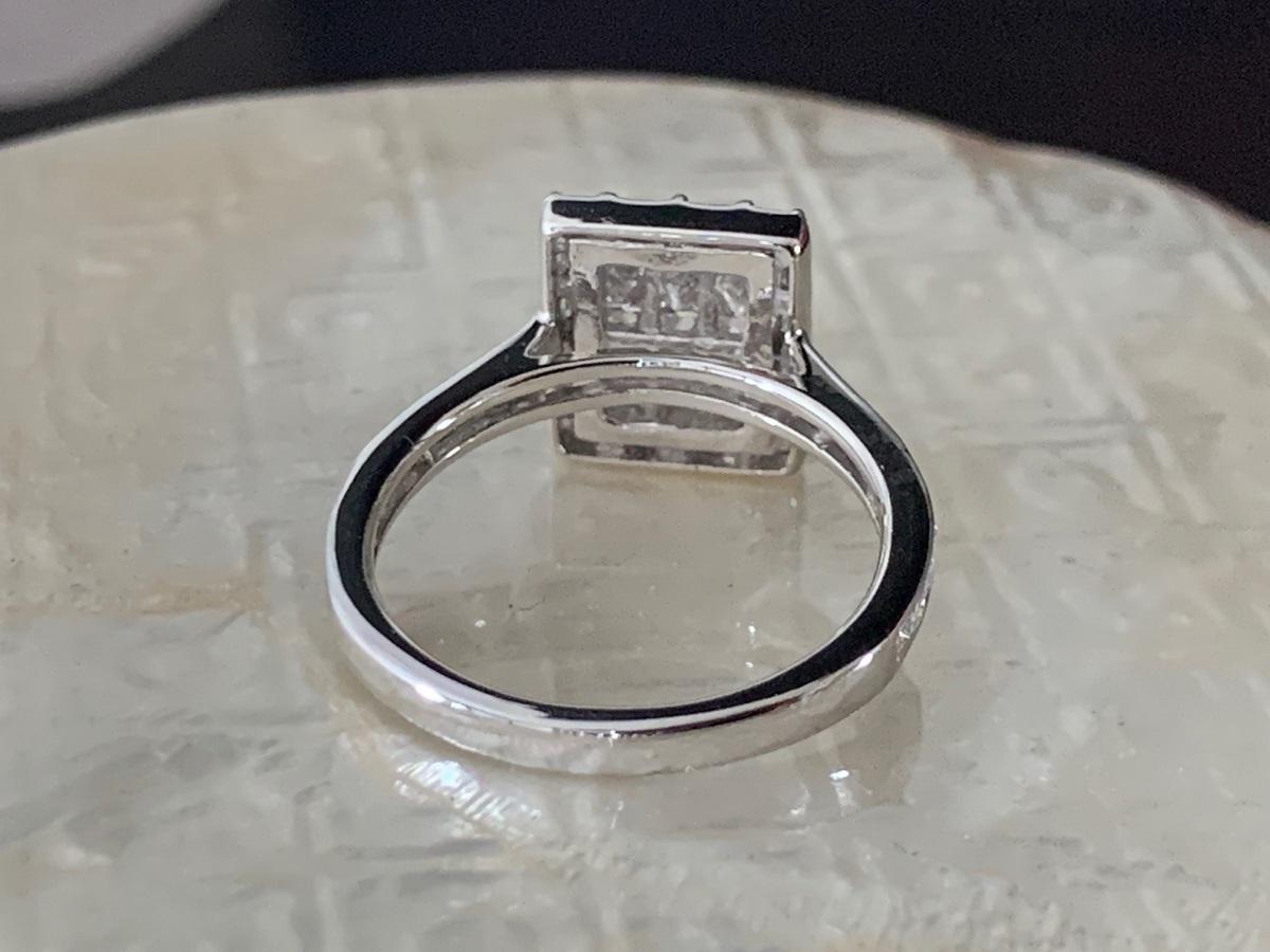 ☆税込価格☆<pt900>1.00ctダイヤモンドリング ミステリーセッテイング_画像7