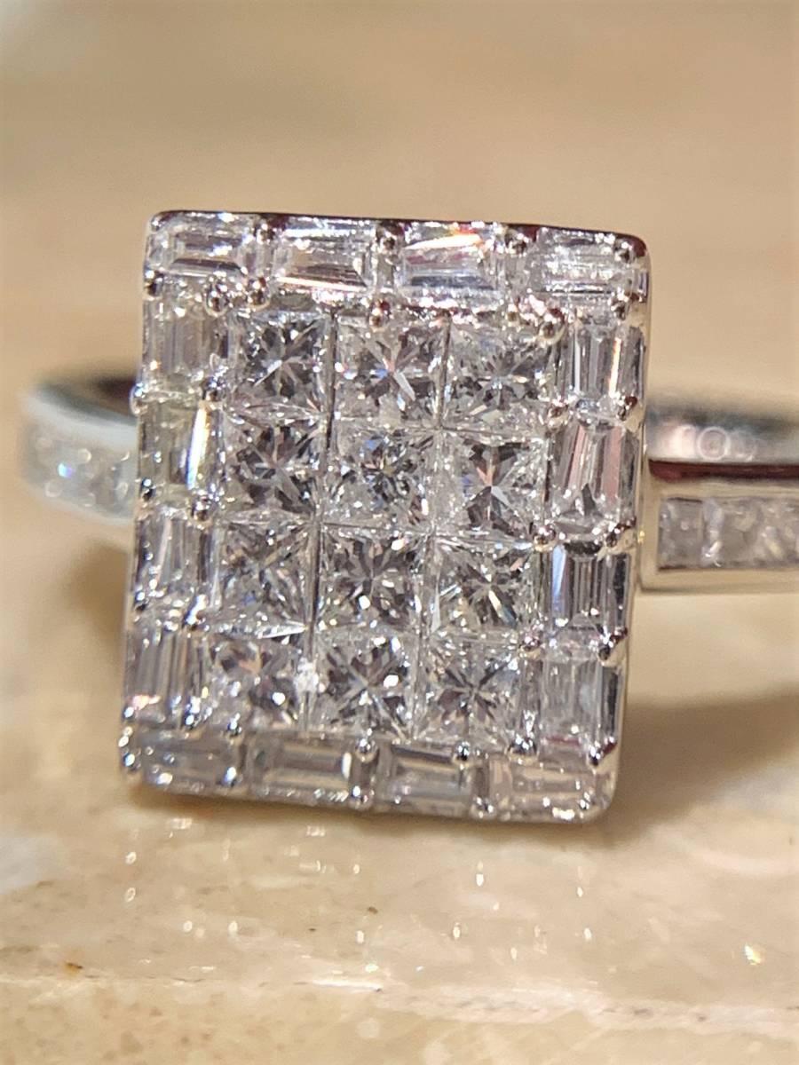 ☆税込価格☆<pt900>1.00ctダイヤモンドリング ミステリーセッテイング_画像1