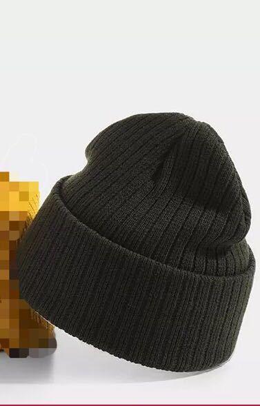 ニットキャップ ニット帽 古着 冬服 韓国 ブラック 黒