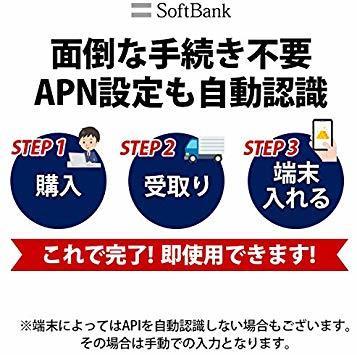 10GB Softbank 日本 プリペイドSIM 10GB 4GLTE対応 最大6ヶ月間有効_画像2