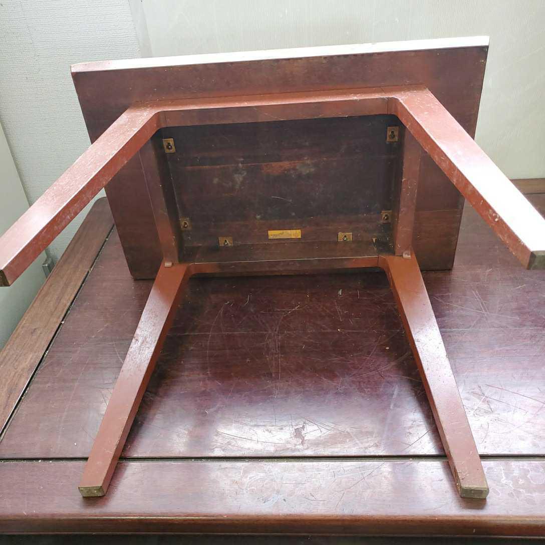 *松本民芸家具 サイドテーブル 木製 W63.5cm×D42.5cm×H50cm格安売り切りスタートG_画像4