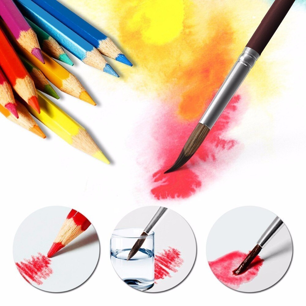 48色+筆付 色鉛筆 アート セット 芸術 塗り絵 コレクション 筆記用具 模写 スケッチ 水彩 筆 絵画 漫画 えんぴつ 一式 漫画 練習_画像3