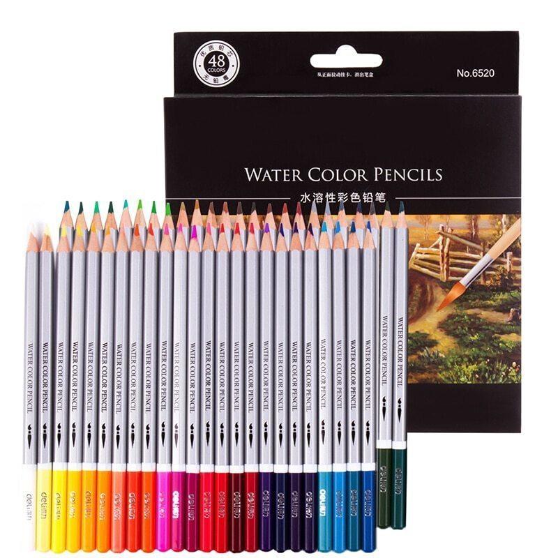 48色+筆付 色鉛筆 アート セット 芸術 塗り絵 コレクション 筆記用具 模写 スケッチ 水彩 筆 絵画 漫画 えんぴつ 一式 漫画 練習_画像1
