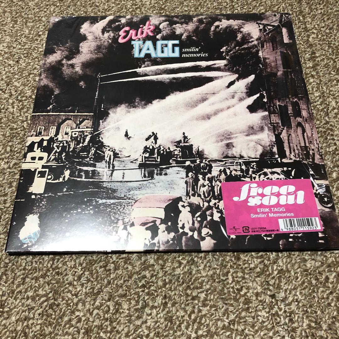 エリック・タッグ 『スマイリン・メモリ』 ほぼ新品LP