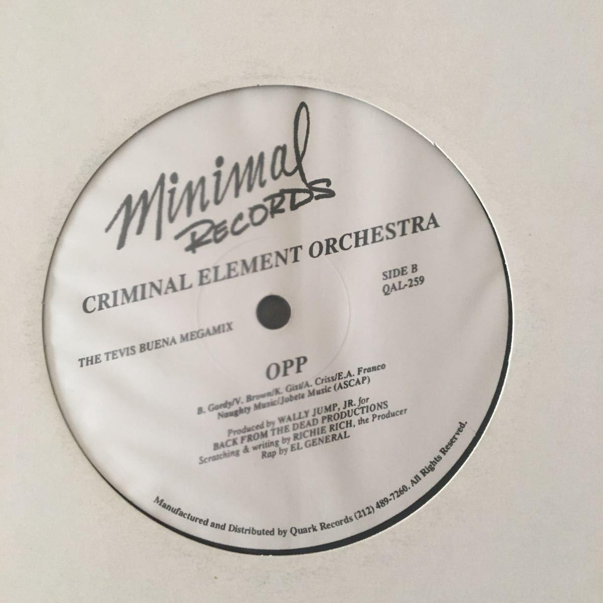 Criminal Element Orchestra ABC / OPP レコード