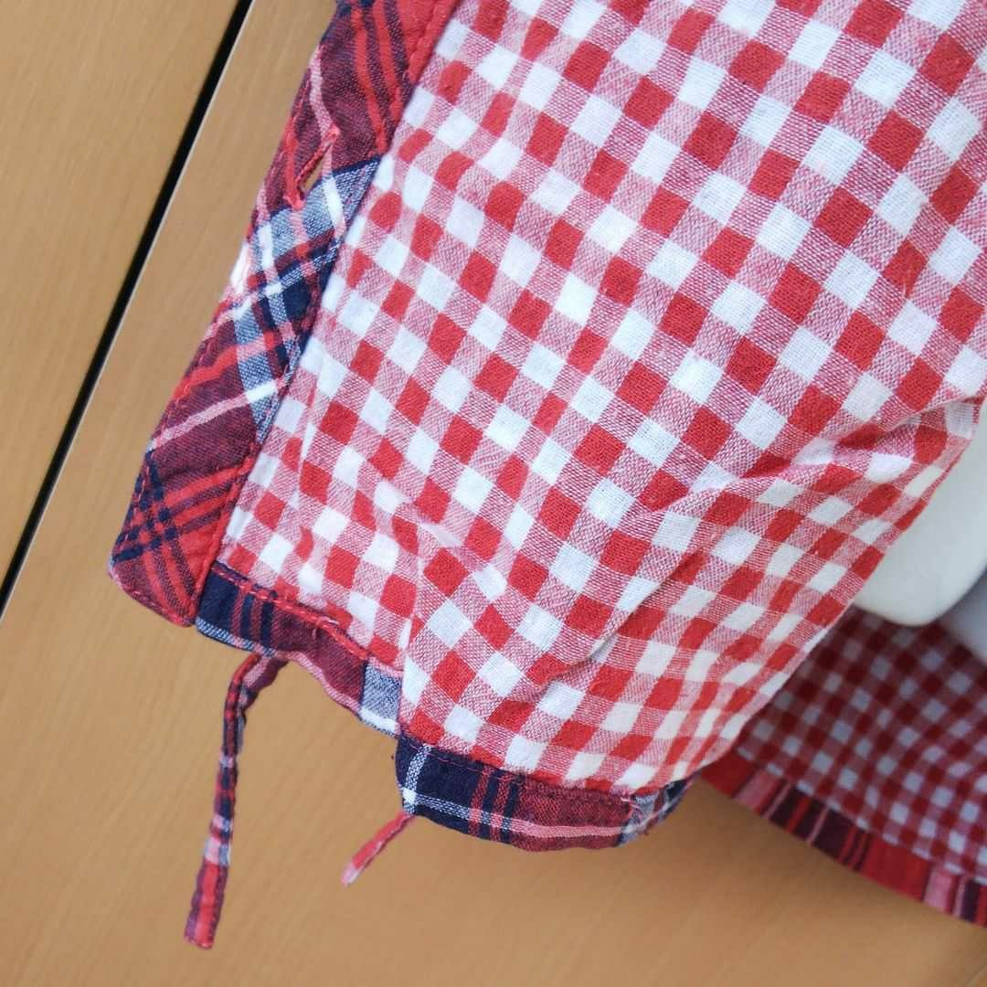 チェックシャツ シャツワンピース
