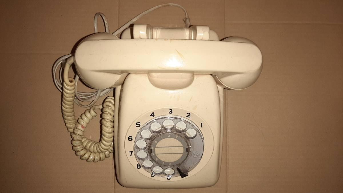 アンティーク電話機/日本電信電話公社601-A2 ダイアル式 /ジャンク品_画像2
